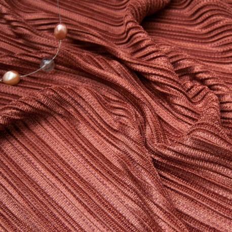 Au mètre tissu effet plissé cuivre en 152cm n°10761