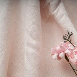 Toile légère polyester et Coton rose pâle en 110cm n°10769