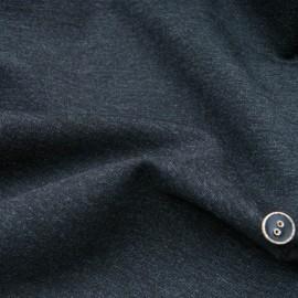 Au mètre maille type Milano gris chiné noir polyester en 155cm n°10784