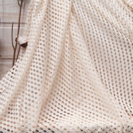 Coupon maille écrue filet polyester polyamide 2m90 en 160cm n°10791