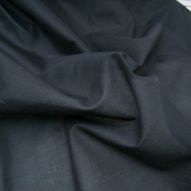 Au mètre voile coton noir en 150cm n°10816