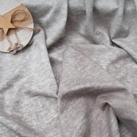 Au mètre joli sweat brun gris tout doux Viscose et Coton en 153cm n°10837