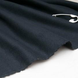 Drap de laine noir Polyester et Laine au mètre en 158cm n°10840