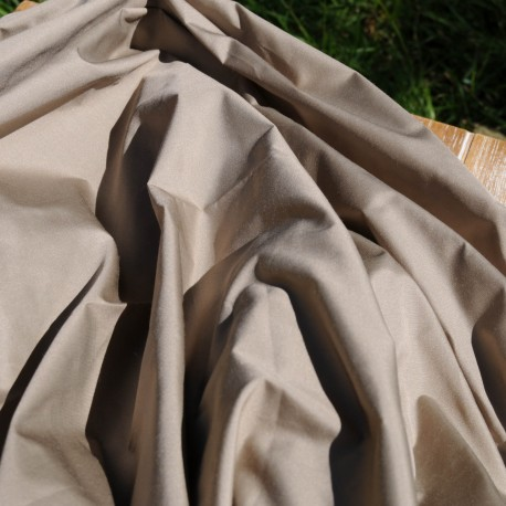 Coupon Taffetas de coton taupe n° 659 F4