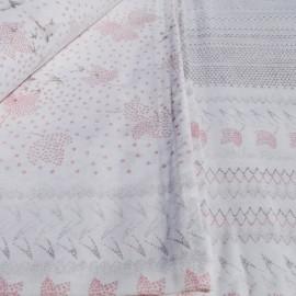 Drap 2 pers. 240x 300cm rose gris Polyester et Coton