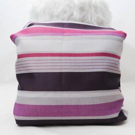 Coupon BAYADERE violet Toile Polyester 1m15 en 150cm