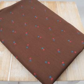 Tissu au mètre Fin Coton marron en 140cm n°703
