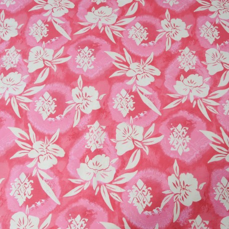 Tissu au mètre Jersey coton rose en 145cm n°705